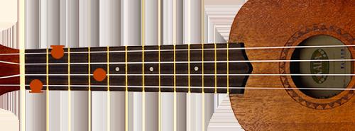 E-majeur-ukulele